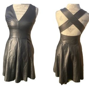 BR Lambskin Soft Leather Dress